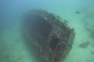 Ship after shipwreck on the bottom. Philippines, Mindoro.