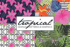 Tropical Patterns & Tropical Clipart