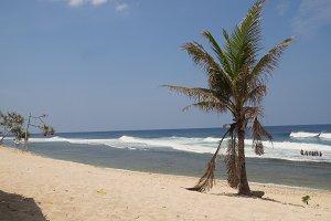 Sandy white beach. Philippines.