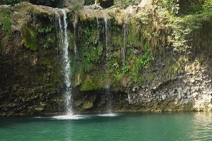 Beautiful tropical waterfall. Philippines, Luzon