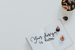 Figs #6 Calligraphy Mockup