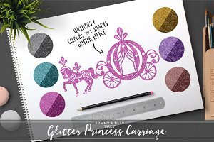 Glitter Princess Carriage Clipart