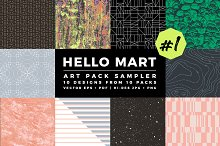 Hello Mart Pattern & Texture Sampler by M. Harding in Textures