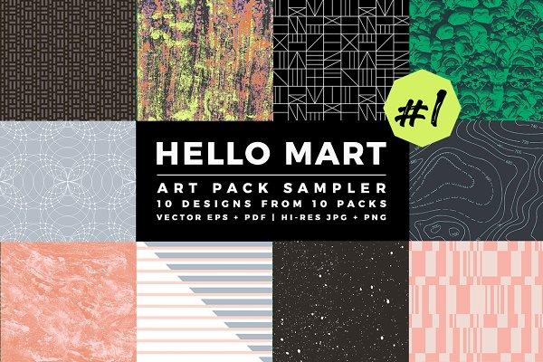 Textures: Hello Mart - Hello Mart Pattern & Texture Sampler