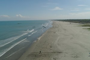 Wide beach on the island of Luzon, Philippines.