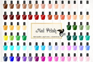 Nail Polish Vector Clipart