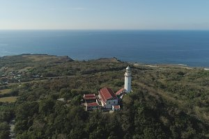 Cape Bojeador Lighthouse. Philippines, Luzon.