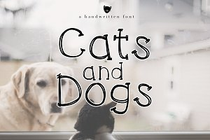 Cats and Dogs - A Handwritten Font