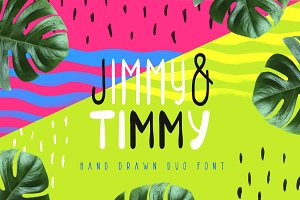 Jimmy & Timmy - Duo Font