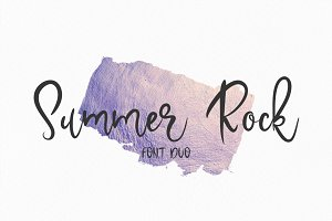 Summer Rock. Font duo