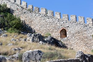 Medieval castle wall.