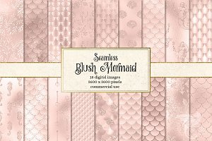 Blush Pink Mermaid Scales