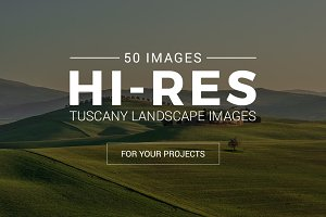 Tuscany Landscape Pack - 50 Photos