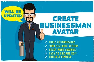 Businessman characters creation kit