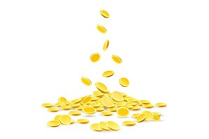 Gold coins heap