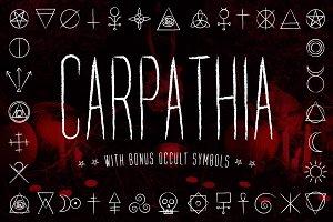 Carpathia Typeface + Extras