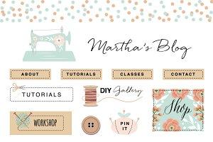 Craft Blog Kit Elements EPS & PNG