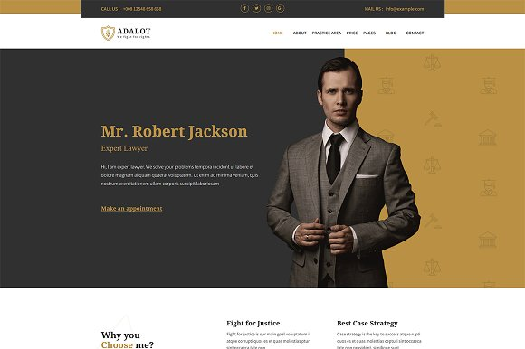 Adalot-Personal Lawyer HTML Template
