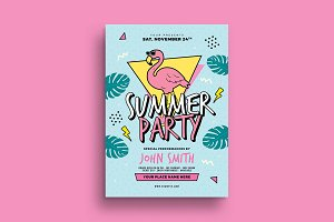 90's Summer Party Flyer