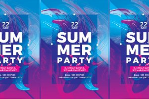 Summer Liquird Flyer Templates