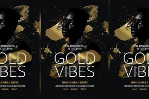 Gold Vibes Flyer Templates