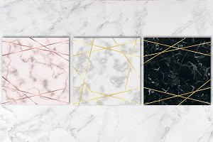 3 Marble Background Set