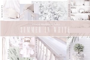 SUMMER IN WHITE. PHOTOS+MOCKUPS