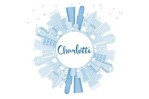 Outline Charlotte Skyline
