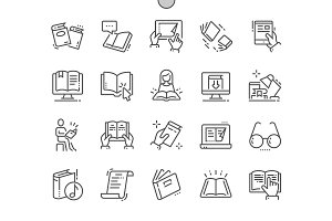 Reading Line Icons
