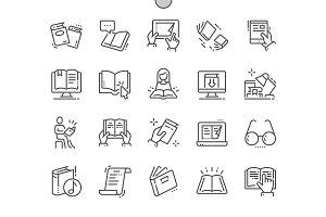 Reading Line Icons
