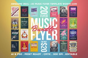 Music Flyer Bundle | 20 for $20!