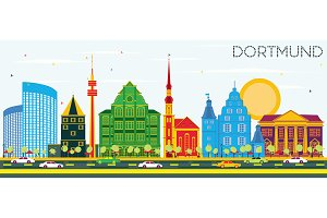 Dortmund Germany City Skyline