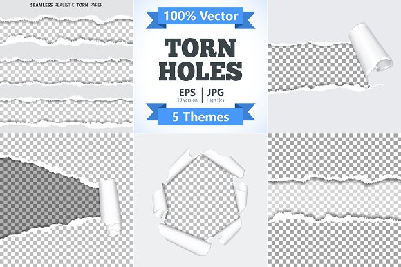 Torn Holes on Paper