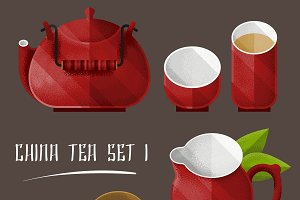 Colorful Tea Utensil Set