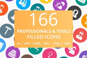 166 Professional & Tools Filled Icon