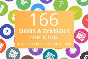 166 Signs & Symbol Filled Round Icon
