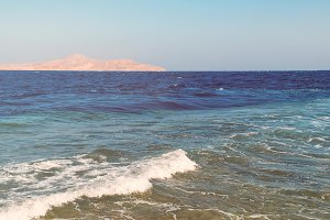 Seascape view of Red sea in Egypte.