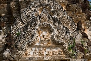 Ancient Religious Relief in Thailand