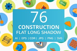 76 Construction Flat Icons