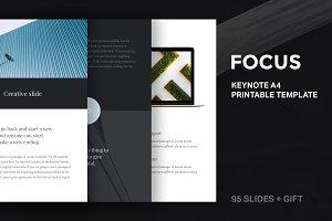 A4 | Focus Keynote Template