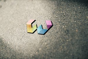 Colorful Letter W Logo