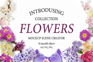 Flowers. Mockup Scene Creator