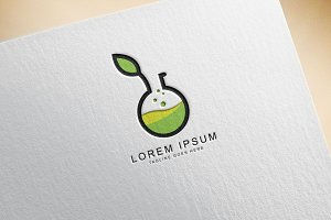 Green Lab Logo Template