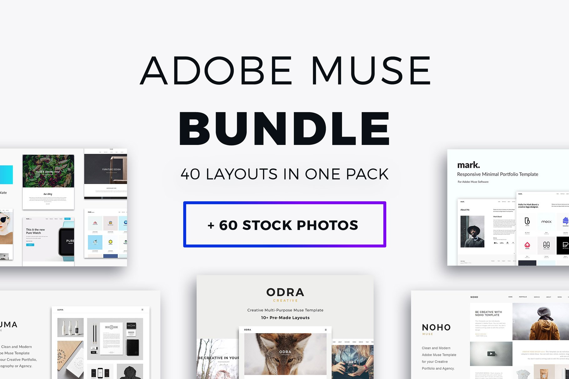 Adobe Muse Bundle 40 Templates Website Templates Creative Market