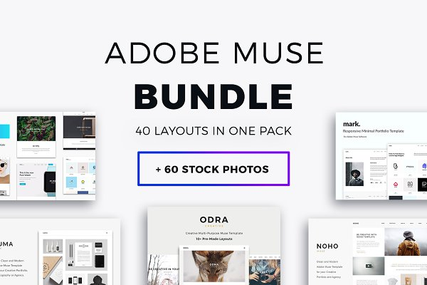 Website Templates: PixaSquare - Adobe Muse Bundle - 40+ Templates