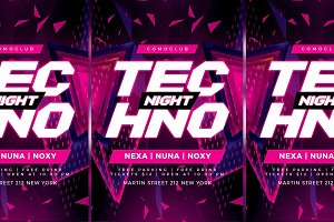 Techno Flyer Party