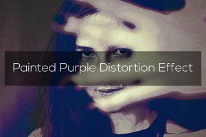Painted Purple Distortion Effect