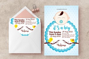 Baby Shower Ceremony Invite Template