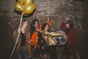 Party girls on saturday night