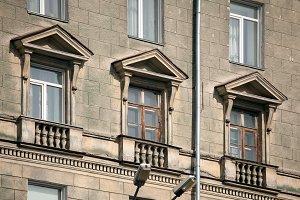 old stone windows